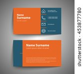 modern simple business card set ... | Shutterstock .eps vector #453877780