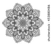 mandala. beautiful vintage... | Shutterstock .eps vector #453880486