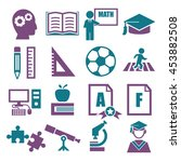 education  study icon set | Shutterstock .eps vector #453882508
