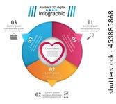 business infographics origami... | Shutterstock .eps vector #453885868