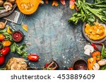 autumn vegetables cooking... | Shutterstock . vector #453889609