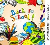 back to school vector... | Shutterstock .eps vector #453891310
