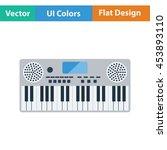 music synthesizer icon. flat...