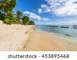 mauritius beach. tropical... | Shutterstock . vector #453895468
