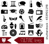culture and art theme black... | Shutterstock .eps vector #453901198