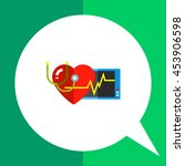 cardiology flat icon | Shutterstock .eps vector #453906598