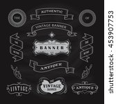 vintage banner antique label... | Shutterstock .eps vector #453907753