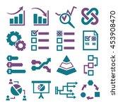 infographic  data icon set | Shutterstock .eps vector #453908470