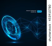 futuristic technology hud... | Shutterstock .eps vector #453910780