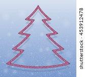 falling snow vector. winter...   Shutterstock .eps vector #453912478