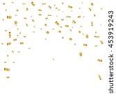 gold confetti celebration | Shutterstock .eps vector #453919243