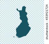 map of finland | Shutterstock .eps vector #453921724