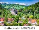 bran castle  brasov  romania.... | Shutterstock . vector #453922699