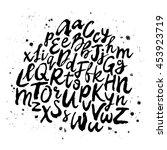 vector hand drawn alphabet....   Shutterstock .eps vector #453923719