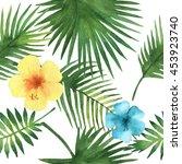watercolor seamless pattern... | Shutterstock . vector #453923740