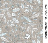creative vector pattern with... | Shutterstock .eps vector #453928498
