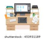 ui and ux app design workspace.