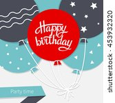 card with lettering happy... | Shutterstock .eps vector #453932320