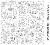 many element education doodles... | Shutterstock .eps vector #453935728
