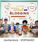 blogging blog homepage internet ... | Shutterstock . vector #453936403