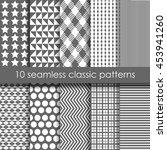 set of 10 monochrome classic... | Shutterstock .eps vector #453941260