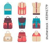school backpack in flat style.... | Shutterstock .eps vector #453941779