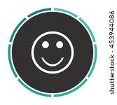 smile. white circle button on...