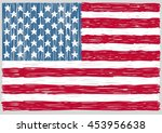 hand drawn united states of... | Shutterstock .eps vector #453956638