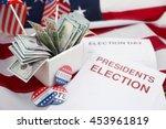 american vote concept. ballot...