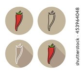 red chilli icon in different...   Shutterstock .eps vector #453964048