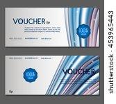 gift voucher. vector ... | Shutterstock .eps vector #453965443