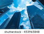 high rise buildings and blue... | Shutterstock . vector #453965848