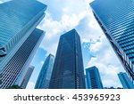 high rise buildings and blue... | Shutterstock . vector #453965923