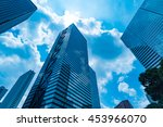 high rise buildings and blue... | Shutterstock . vector #453966070