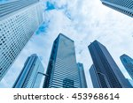 high rise buildings and blue... | Shutterstock . vector #453968614