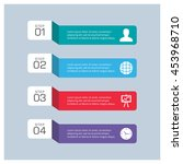 modern infographic template... | Shutterstock .eps vector #453968710