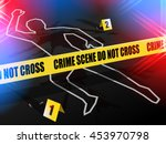 crime scene   do not cross. ... | Shutterstock .eps vector #453970798