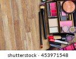 black brushes  lipsticks ... | Shutterstock . vector #453971548