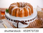 entire round bundt cake frosted ... | Shutterstock . vector #453973720