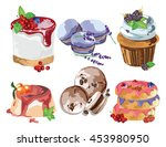 delicious desserts set. sweet... | Shutterstock .eps vector #453980950