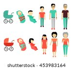 human growing up concept. flat... | Shutterstock .eps vector #453983164