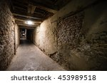 gothic quarter with old red... | Shutterstock . vector #453989518