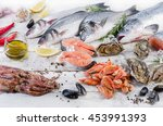 Fish And Seafood With Fresh...