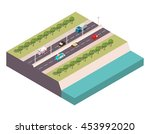vector isometric the highway at ... | Shutterstock .eps vector #453992020
