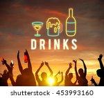 party night life fun enjoy... | Shutterstock . vector #453993160