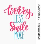 positive quote lettering.... | Shutterstock .eps vector #454000090