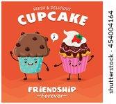 vintage cupcake poster design... | Shutterstock .eps vector #454004164