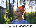 sport outdoor portrait of... | Shutterstock . vector #454008253