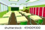classroom waiting students | Shutterstock . vector #454009300