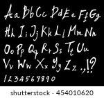 hand drawn alphabet letters... | Shutterstock .eps vector #454010620